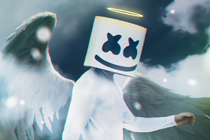Marshmello Angel 4k