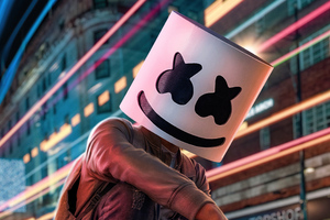 Marshmello City Lights 5k Wallpaper