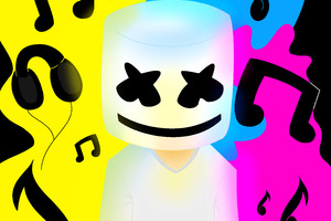 Marshmello Colorful 5k Wallpaper