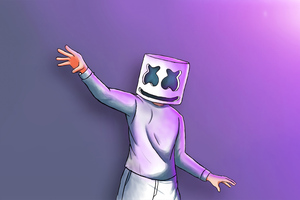 Marshmello Digital Art 4k Wallpaper