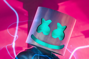 Marshmello Glow 4k Wallpaper