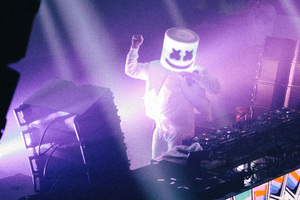 Marshmello Live Performance 4k Wallpaper