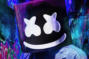 Marshmello Mask 2021 4k Wallpaper