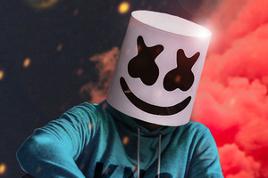 Marshmello Mask Colors 4k Wallpaper