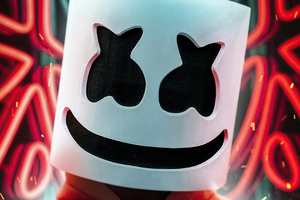 Marshmello Orange Hoodie 4k Wallpaper