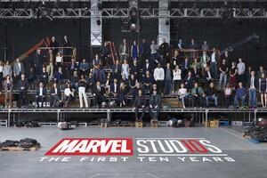 Marvel 10 Year Anniversary Class Photo Wallpaper