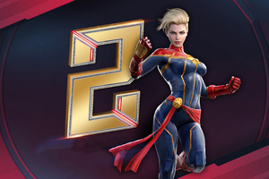 Marvel Duel Captain Marvel Wallpaper