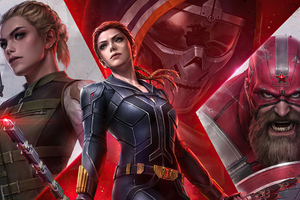 Marvel Future Fight Black Widow Team 4k Wallpaper