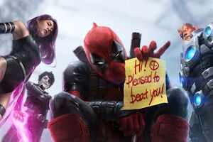 Marvel Future Fight Deadpool X Force Team Artwork
