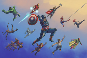Marvel Heroes Artwork 5k