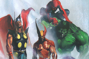 Marvel Heroes Paint Art Wallpaper