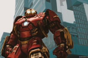Marvel Iron Hulkbuster Art