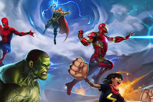 Marvel Puzzle Quest Game Wallpaper
