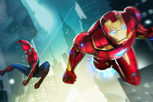 Marvel Puzzle Quest Iron Man And Spiderman 4k