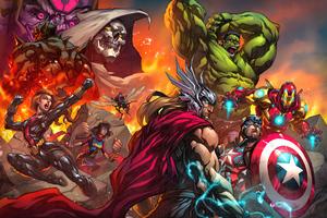 Marvels Avengers Tribune Magazine Cover Art 5k Wallpaper