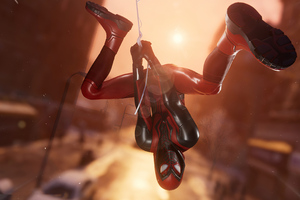 Marvels Spider Man Miles Morales Hanging In City 4k