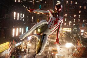 Marvels Spiderman Miles Morales Skin Wallpaper