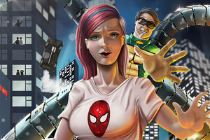 Mary Jane Watson And Dr Octupus Wallpaper