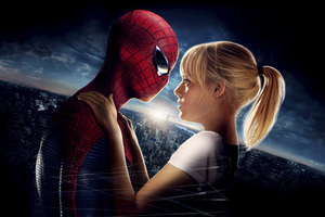 Mary Jane Watson And Spiderman Wallpaper