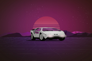 Maserati Boomerang Synthwave 8k Wallpaper