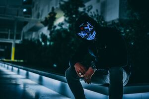 Mask Anonymous Hoodie Guy