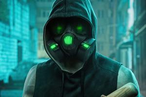 Mask Boy With Slugger 4k