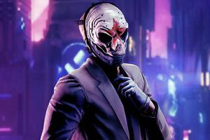Mask Cyberpunk Boy Wallpaper