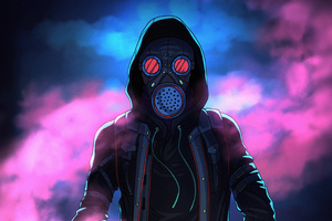Mask Glowing Eyes 4k Wallpaper