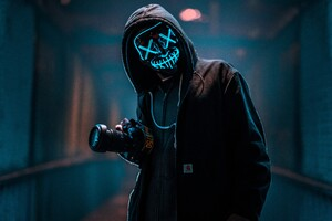 Mask Guy With Dslr Wallpaper