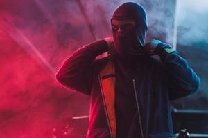 Mask Man Red Smoke Wallpaper