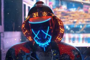 Mask Neon Guy Making Chakra 4k