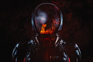 Mass Effect Andromeda Flame 2017 4k