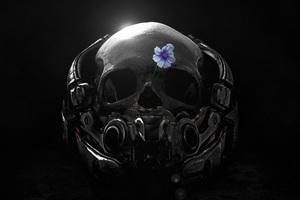 Mass Effect Andromeda Skull Flower Fanart 4k Wallpaper