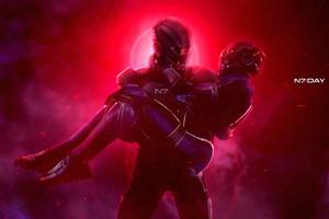 Mass Effect N7 Artwork 4k Wallpaper