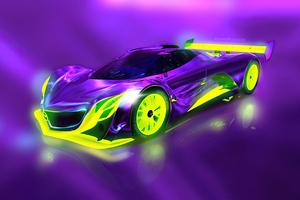 Mazda Furai Concept Purple And Lime 4k