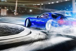 Mazda Rx7 Drifting 4k Wallpaper