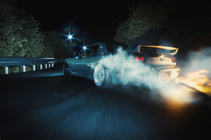 Mazda Rx7 Drifting Night 4k Wallpaper