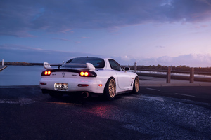 Mazda Rx7 Golden Alloys 4k Wallpaper