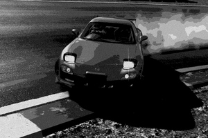 Mazda Rx7 Monochrome Drift