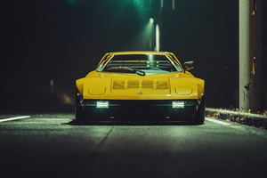 Mazda Rx7 Yellow 5k Wallpaper
