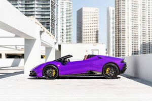 MC Purple Huracan Carbon EVO Wallpaper
