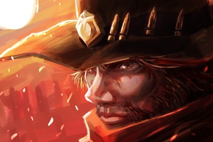 Mccree Overwatch Art 5k Wallpaper