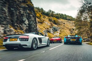 McLaren 570S Spider Audi R8 V10 Plus Spyder Mercedes AMG GT C Roadster Wallpaper