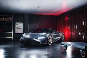 Mclaren 720 In Garage Wallpaper