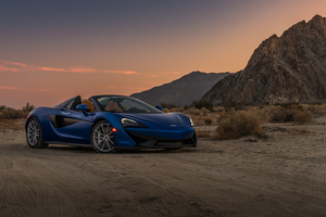Mclaren In Desert Wallpaper