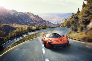 Mclaren In Mountains