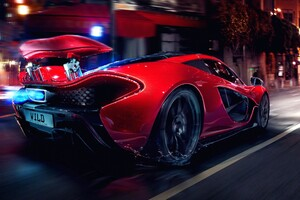 Mclaren P1 Car Long Exposure