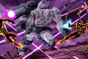 Megatron Vs Iron Man Iron Spiderman