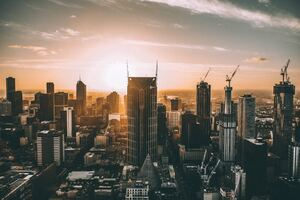 Melbourne Cityscape 5k Wallpaper