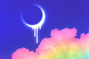 Melting Moon 4k